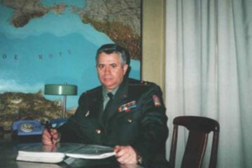 Рабочий кабинет п-ка Ратько В.Н. в штабе ОДВО