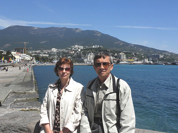 С супругой в Ялте